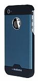 Motomo iPhone 4 / 4S Metal Mavi Rubber K�l�f
