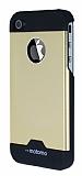 Motomo iPhone 4 / 4S Metal Gold Rubber K�l�f