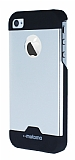 Motomo iPhone 4 / 4S Metal Silver Rubber K�l�f