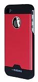 Motomo iPhone 4 / 4S Metal K�rm�z� Rubber K�l�f