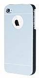 Motomo iPhone 4 / 4S Metal Silver Rubber Kılıf