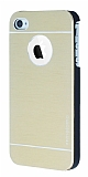 Motomo iPhone 4 / 4S Metal Gold Rubber K�l�f