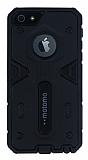 Motomo iPhone 5 / 5S Ultra Koruma Siyah K�l�f