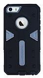 Motomo iPhone 5 / 5S Ultra Koruma Dark Silver K�l�f