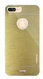 Motomo iPhone 7 Plus Metal Gold Rubber Kılıf