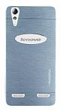 Motomo Lenovo A6000 Metal Silver Rubber Kılıf