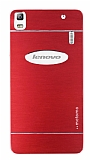 Motomo Lenovo A7000 Metal Kırmızı Rubber Kılıf