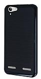 Motomo Lenovo Vibe K5 Siyah Kenarl� Siyah Silikon K�l�f