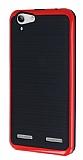 Motomo Lenovo Vibe K5 K�rm�z� Kenarl� Siyah Silikon K�l�f