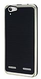 Motomo Lenovo Vibe K5 Gold Kenarl� Siyah Silikon K�l�f
