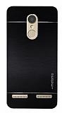 Motomo Lenovo K6 Metal Siyah Rubber Kılıf