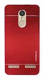 Motomo Lenovo K6 Metal Kırmızı Rubber Kılıf