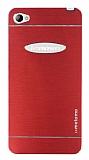 Motomo Lenovo S90 Metal Kırmızı Rubber Kılıf