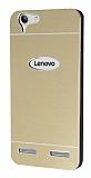 Motomo Lenovo Vibe K5 Metal Gold Rubber Kılıf