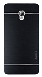 Motomo Lenovo Vibe P1 Metal Siyah Rubber Kılıf