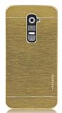 Motomo LG G2 Metal Gold Rubber K�l�f