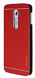 Motomo LG G2 Metal K�rm�z� Rubber K�l�f