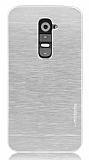Motomo LG G2 Metal Silver Rubber K�l�f