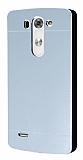 Motomo LG G3 Beat Metal Silver Rubber Kılıf