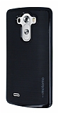 Motomo LG G3 Siyah Kenarl� Siyah Silikon K�l�f