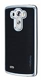 Motomo LG G3 Silver Kenarl� Siyah Silikon K�l�f
