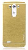 Motomo LG G3 Metal Gold Rubber Kılıf