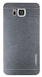 Motomo Samsung Galaxy Alpha Metal Silver Rubber Kılıf