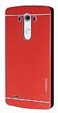 Motomo LG G3 Metal Kırmızı Rubber Kılıf
