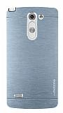Motomo LG G3 Stylus Metal Silver Rubber K�l�f