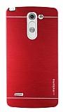 Motomo LG G3 Stylus Metal Kırmızı Rubber Kılıf