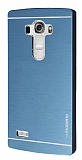 Motomo LG G4 Beat Metal Lacivert Rubber Kılıf