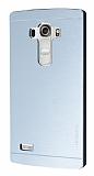 Motomo LG G4 Beat Metal Silver Rubber Kılıf