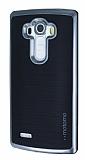 Motomo LG G4 Dark Silver Kenarlı Siyah Silikon Kılıf