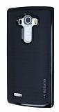 Motomo LG G4 Siyah Kenarlı Siyah Silikon Kılıf