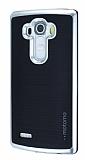 Motomo LG G4 Silver Kenarlı Siyah Silikon Kılıf
