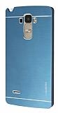 Motomo LG G4 Stylus Metal Lacivert Rubber Kılıf