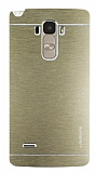 Motomo LG G4 Stylus Metal Gold Rubber Kılıf