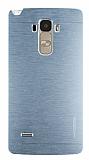 Motomo LG G4 Stylus Metal Silver Rubber Kılıf