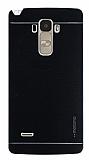 Motomo LG G4 Stylus Metal Siyah Rubber Kılıf