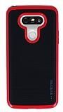 Motomo LG G5 Kırmızı Kenarlı Siyah Silikon Kılıf