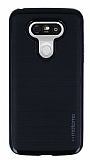 Motomo LG G5 Siyah Kenarlı Siyah Silikon Kılıf