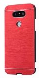 Motomo LG G5 Metal Kırmızı Rubber Kılıf