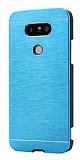 Motomo LG G5 Metal Mavi Rubber Kılıf