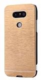 Motomo LG G5 Metal Gold Rubber Kılıf