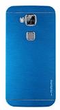 Motomo Huawei G8 Metal Mavi Rubber Kılıf