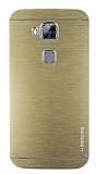 Motomo Huawei G8 Metal Gold Rubber K�l�f