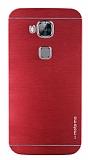 Motomo Huawei G8 Metal K�rm�z� Rubber K�l�f