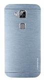 Motomo Huawei G8 Metal Silver Rubber Kılıf