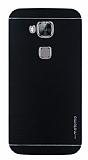 Motomo Huawei G8 Metal Siyah Rubber Kılıf