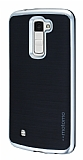 Motomo LG K10 Silver Kenarlı Siyah Silikon Kılıf